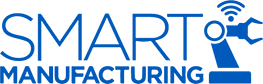 Smart Manufacturing blue icon 84h