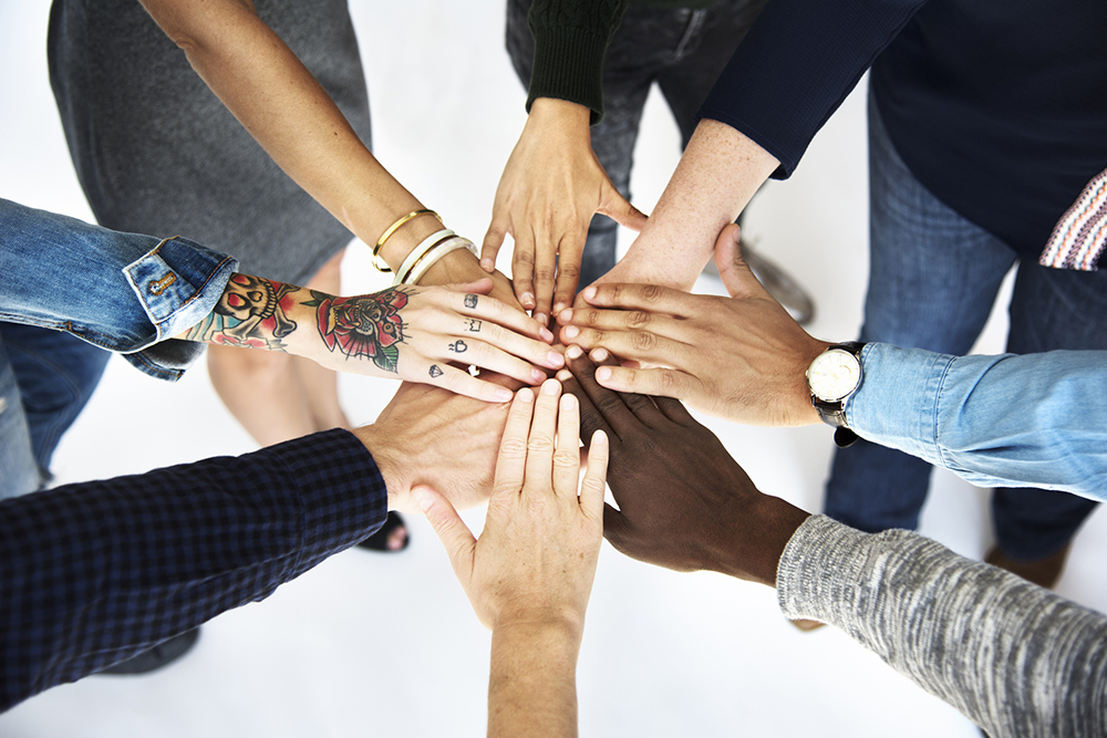 WFD circle of joined hands